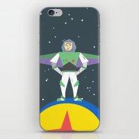 buzz lightyear iPhone & iPod Skins featuring Buzz Lightyear Celebration Illustration by A Strange One