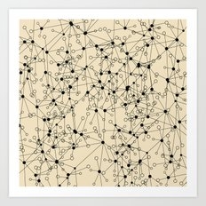 Stars sky map Art Print