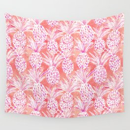 FLESHED OUT Tropical Pink Pineapples Wall Tapestry