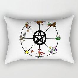 Wheel Of Seasons Rectangular Pillow