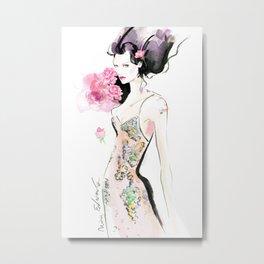 Rose Woman Metal Print
