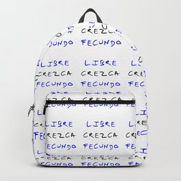 motto of guatemala – libre, crezca,fecundo Backpack