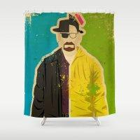 heisenberg Shower Curtains featuring Heisenberg by Danny Haas