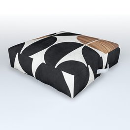 Mid-Century Modern Pattern No.1 - Concrete and Wood Outdoor Floor Cushion