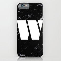 Black Marble - Alphabet W Slim Case iPhone 6s
