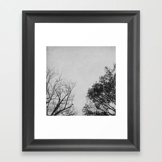 2 Trees (Grey) Framed Art Print
