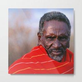 African Maasai Elder Metal Print