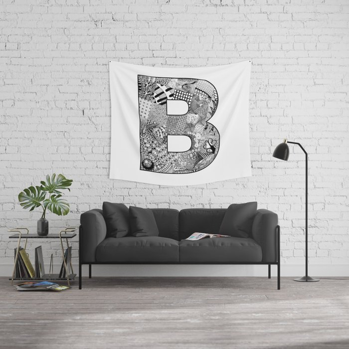 Cutout Letter B Wall Tapestry