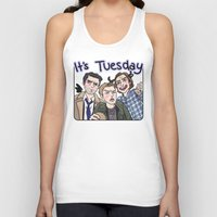 enerjax Tank Tops featuring It's Tuesday by enerjax