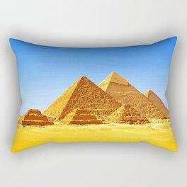 The Pyramids At Giza Rectangular Pillow
