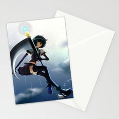 The girl of a scythe Stationery Cards
