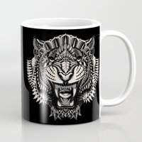bioworkz Mugs featuring Eye of the Tiger by BIOWORKZ