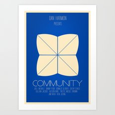 Community - Minimalist Movie Poster Art Print
