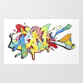 New School QUONE Piece Art Print