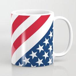 USA American Flag Slanted Stripes Coffee Mug