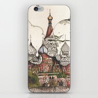 moscow iPhone & iPod Skins featuring Moscow II by RiversAreDeep