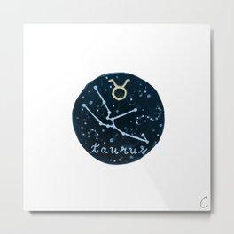 Taurus Zodiac Astrology Design Metal Print