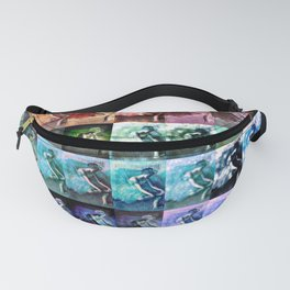The Dancer Colorful Rainbow Collage Fanny Pack