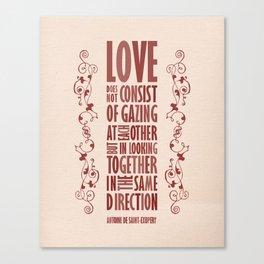 Love Direction Canvas Print