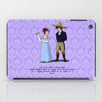 pride and prejudice iPad Cases featuring Pride and Prejudice and Tacos by mikaelak