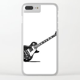 Black Guitar Clear iPhone Case