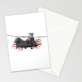 Patriotic MH-47 Chinook Helicopter Stationery Cards