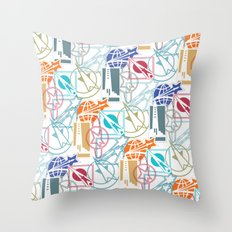 Space Badges Throw Pillow
