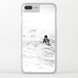 Waiting and Watching Surf Photo Clear iPhone Case