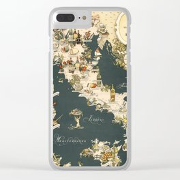 Gastronomic Map of Italy 1949 Clear iPhone Case