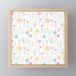 Wildflower Field Framed Mini Art Print