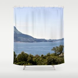 View - Digital painting Shower Curtain