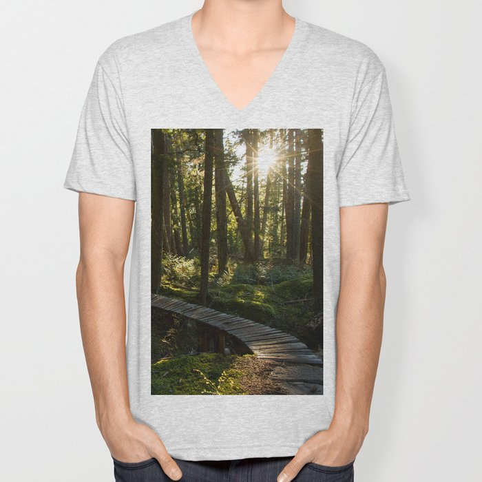 North Shore Trails in the Woods Unisex V-Neck