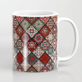 (N19) Colored Floral Moroccan Traditional Bohemian Artwork Coffee Mug