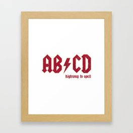 AB/CD Framed Art Print