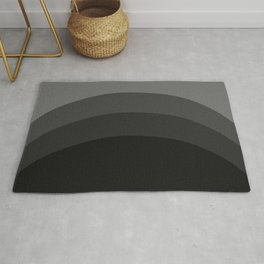 Four Shades of Black Curved Rug