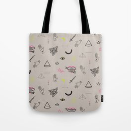 Tattoo doodles pattern Tote Bag