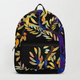 Single Tree on black Backpack