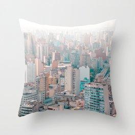 big city life Asia Throw Pillow
