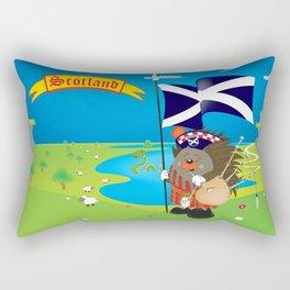 Greetings from Scotland Rectangular Pillow