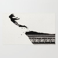 diver Area & Throw Rugs featuring Cliff Diver by dan,
