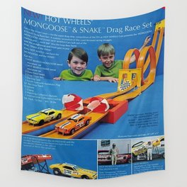 1971 Hot Wheels Sears Catalog Snake & Mongoose MOPAR Poster Wall Tapestry
