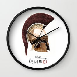 Tonight we dine in hell Wall Clock