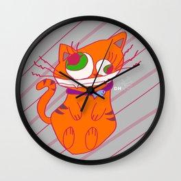 Deranged Cat Wall Clock