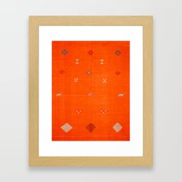 Traditional Anthropologie Moroccan orange Artwork. Art Print Framed Art Print