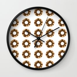Chocolate Doughnut Wall Clock