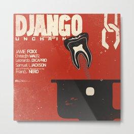 Django Unchained, Quentin Tarantino, alternative movie poster, Leonardo DiCaprio, Jamie Foxx Metal Print