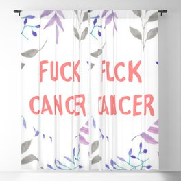 Fuck cancer quote Blackout Curtain
