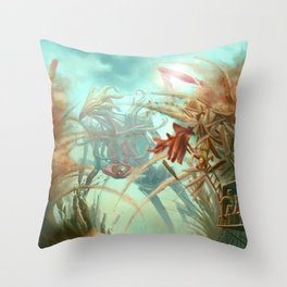 Giants and Healers Throw Pillow