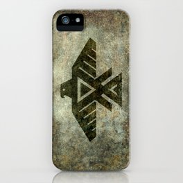 Thunderbird, Emblem of the Anishinaabe people - Vintage version iPhone Case