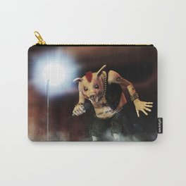 Pig Vicious - Hog Save The Queen - Punk Rock Pig Artwork Carry-All Pouch
